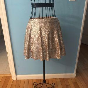 Gold Glitter Skirt
